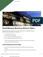 Medium Business Tariffs