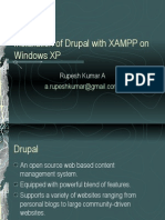 Installation of Drupal on Windows XP using XAMPP