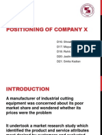 Positioning of Company X