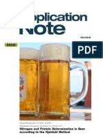 Beer Nitrogen and Protein K-436 K-439 K-370-371[1]