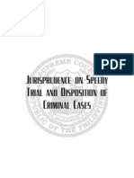 Philippines Pamphlet Jurisprudence Speedy Trial Disposition of Criminal Cases 2009