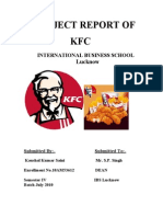 Project report on KFC