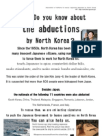 Do you know about the abductions by North Korea?