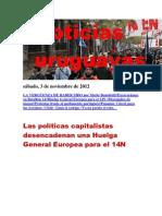 Noticias Uruguayas sábado 3 de noviembre del 2012