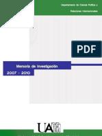 Memoria Investigacion 2007-10