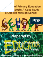 Problems of Primary Education in Bangladesh-Revised