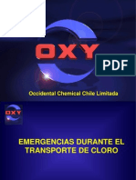 emergencias en transporte de cloro