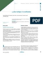 Acidose lactique à la metformine - oct 2012