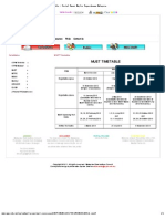MUET Timetable 2013
