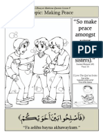 Quranic Lesson 9 - Making Peace