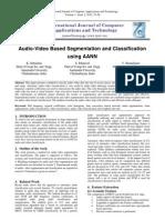Audio-Video Based Segmentation and Classification using AANN