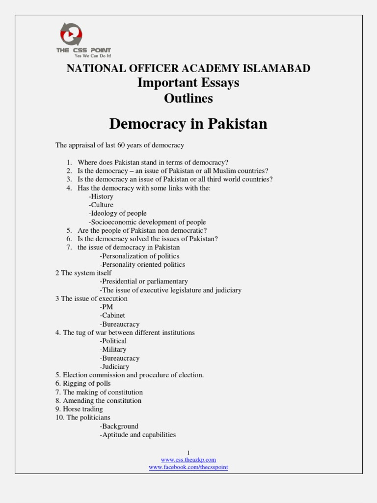 democracy essay css Democracy is championed as a universal good by the west,  is democracy overrated  (css) if you are able to.