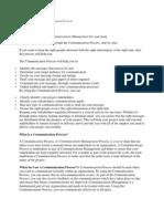 Communications Management Process