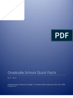 Graduate School Quick Facts 2012 2013