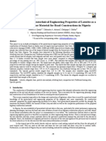 Investigation of the Geotechnical Engineering Properties of Laterite as a Subgrade and Base Material for Road Constructions in Nigeria