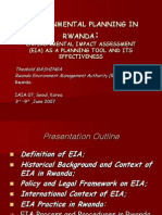 641. Mashinga, EIA as Planning Tool and Its Effectiveness in Rwanda