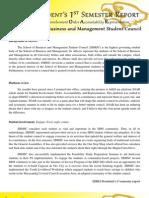 SBMSC President's 1st Semester Report