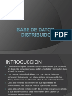Base de Datos Distribuidos