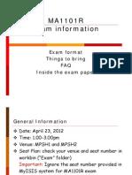 Exam Info