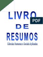 Livro Resumos - CIÊNCIAS Humanas e Sociais -  2012