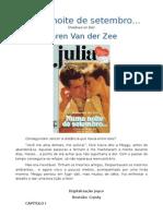 Julia - 507 - Karen Van Der Zee - Numa Noite de Setembro
