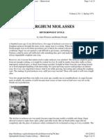 Sorghum Molasses - Bittersweet Style