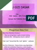 Gizi Dasar Pengertian Gizi 2012