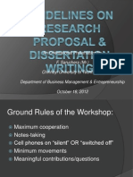 Research Proposal & Dissertation Writing