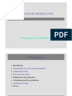 Introduction Typologie de Production
