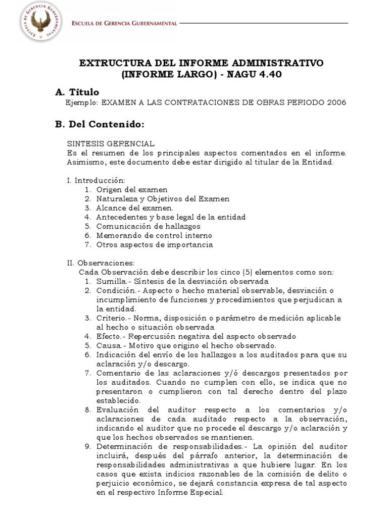 02-Estructura y Contenido de Informe Administrativo