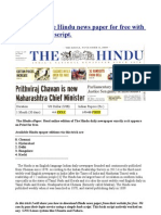 Consumer-Preference-towards-THE-HINDU-newspaper | Chi