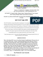 KIT July 1999, Vol XI #7 New 7-11-99