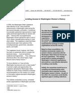Preserving and Providing Access to Washington Women's History