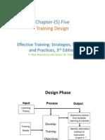 Chapter05, Training Design