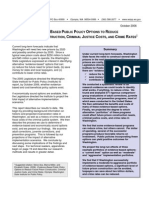 Evidence-Based Public Policy Options to Reduce Future Prison Construction, Criminal Justice Costs, and Crime Rates