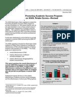 Summer 2006 Promoting Academic Success Program