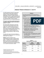 WASL Performance Trends in Grades 4, 7, and 10