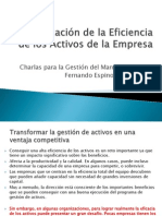 Optimizacion de La Eficiencia de Los Activos de La Empresa