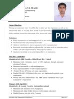 CV of Mamun Sirazul Mozid