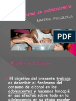 Alcoholismo en Adolescencia Power Point