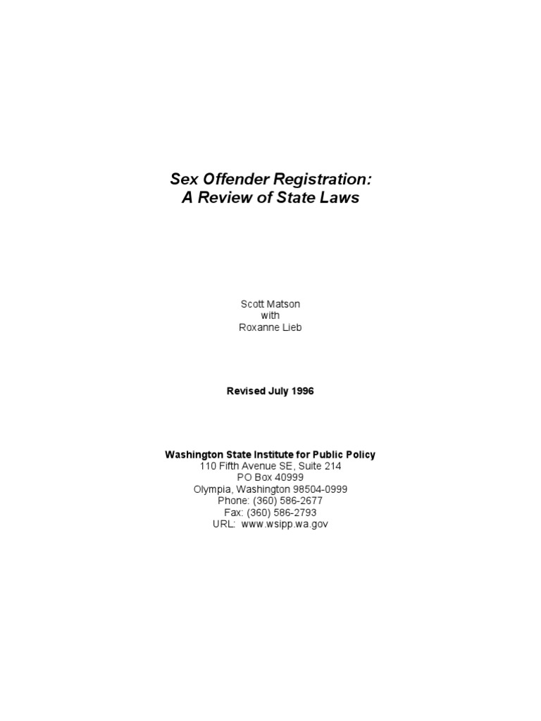 Sex laws in washington state