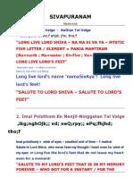 Meaning Sivapuranam
