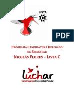 Programa de Bienestar - Nicolás Flores