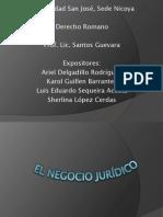 EL NEGOCIO JURÍDICO