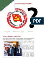 FdS Fine della storia? Due linee contrapposte tra Prc, Pdci e MPdL