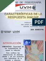 Caraterísticas de la respuesta inmunitaria