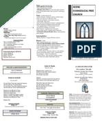 Church Bulletin- November 4