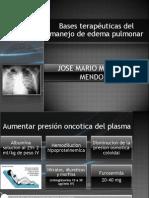 Bases terapéuticas del manejo de edema pulmonar