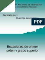 Ecuaciones de Primer Orden y Grado Superior1