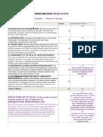 graded issue analysis presentation rubric kronlein